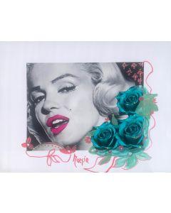 Maria Murgia, Omaggio a Marilyn Monroe, fotografia digitale dipinta, 30x40 cm