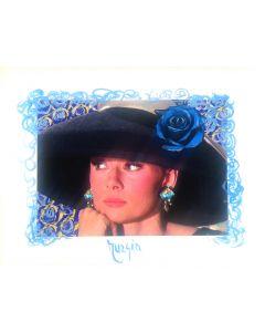 Maria Murgia, Omaggio a Audrey Hepburn, fotografia digitale dipinta, 30x40 cm