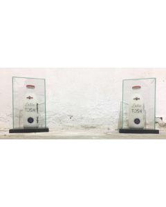 Andrew Tosh, Bottiglie, scultura, h 30 cm, 2017