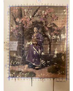 Enrico Pambianchi, Strano atteggiamento, collage, olio, acrilico, matite, gessetti e resine su carta fotografica, 29,7x21 cm