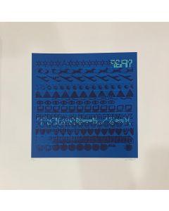 Giancarlo Iliprandi, Serigrafica 67/150, Colore Blu, 50x50 cm
