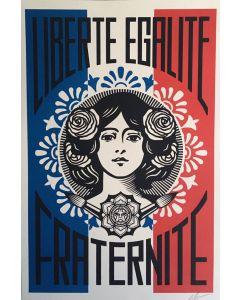 Obey, Liberté Egalité Fraternité, serigrafia, 90x61 cm