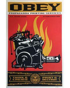 Obey, Print and Destroy, serigrafia, 90x61 cm