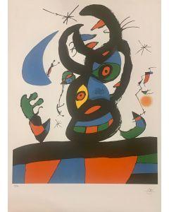 Joan Mirò, litografia su carta Arches edizione S.P.A.D.E.M., 56x76 cm, 1973