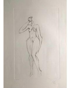 Isaac Kahn, Nudo, Acquaforte, 56x76 cm