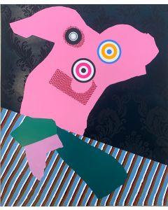 Enrico Baj, Personaggio con cravatta, serigrafia a colori, 59,5x49 cm, 1969