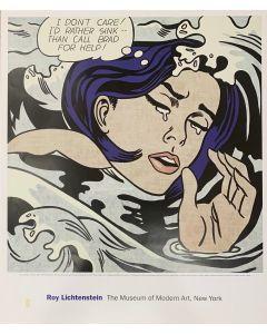 Roy Lichtenstein, Drowing Girl, poster, 69x58 cm