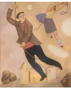 Giuseppe Vignani, senza titolo, grafica su cartoncino, 40x50 cm