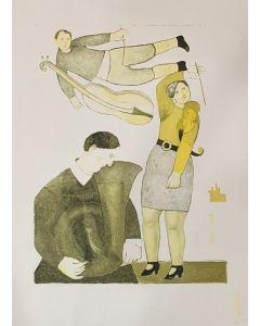 Giuseppe Vignani, senza titolo, grafica su cartoncino, 69x50 cm