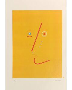 Bruno Budassi (Del Buda), Personaggio stellare (viso giallo), Grafica, 32x45 cm