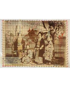 Enrico Pambianchi, Pulp japanese, collage, acrilico, matite, gessetti e resine su carta fotografica, 21x29,7 cm