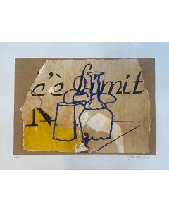 Mimmo Rotella, Morandiana, serigrafia, 80x60 cm, 2000