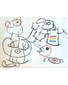 Joan Mirò, Ubu aux Baleares, litografia a colori su carta Arches, 50,5x66,5 cm, 1971