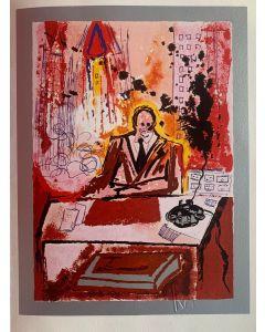 Salvador Dalì, Il Manager, serigrafia su lastra, 30x40 cm, 1981