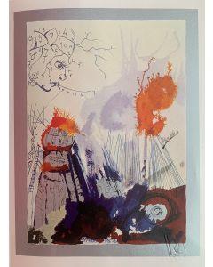Salvador Dalì, Il Costruttore, serigrafia su lastra, 30x40 cm, 1981