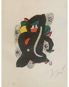 Joan Mirò, Le Melodie Acide, LItografia, 25,5x35 cm, 1980