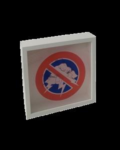Loris Dogana, No drama, please, grafica in vitro, 27x27x6 cm (con cornice)