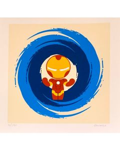 Paolo Gallinaro, I'm Not Iron Man, Grafica Fine Art, 30x30 cm