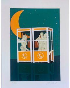 Lillo Ciaola, Telefonando, Grafica Fine Arte, 30x40 cm