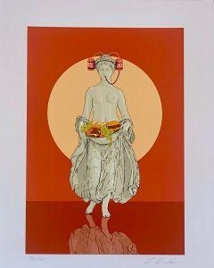 Lillo Ciaola, Flora, Grafica Fine Art, 30x40 cm