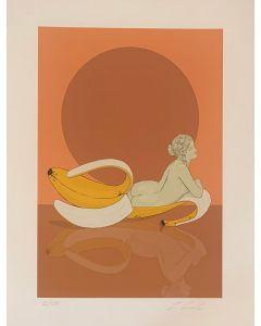Lillo Ciaola, Banana Dircè, Grafica Fine Art, 30x40 cm