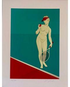 Lillo Ciaola, Tennis, Grafica Fine Art, 30x40 cm
