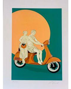 Lillo Ciaola, Vacanze Romane, Grafica Fine Art, 30x40 cm