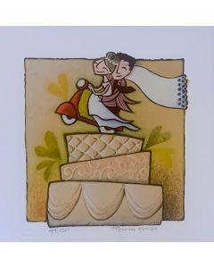Tiziana Biuso, Torta Nuziale, Retouchè, 20x20 cm