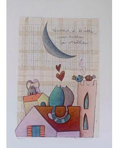 Tiziana Biuso, Amore sotto la Luna, Retouchè, 30x40 cm