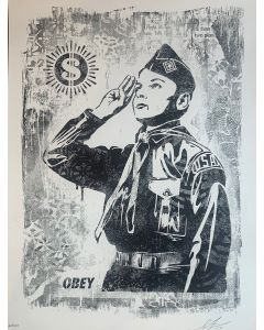 Obey, Learn to Obey, Serigrafia, 45,5x61 cm, 2017