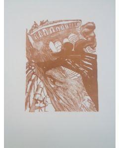 Salvador Dalì, Ancora o bella Dione, stampa a due colori, 27x21 cm