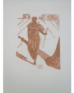 Salvador Dalì, Apollo, stampa a due colori, 27x21 cm