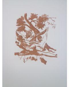 Salvador Dalì, L'infedele moglie di Menelao, stampa a due colori, 27x21 cm