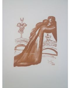 Salvador Dalì, Ermione e Pilade, stampa a due colori, 27x21 cm