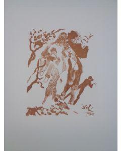 Salvador Dalì, La figlia di Minosse, stampa a due colori, 27x21 cm