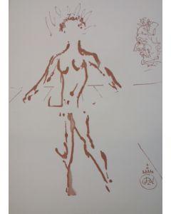 Salvador Dalì, Venere, stampa a due colori, 27x21 cm