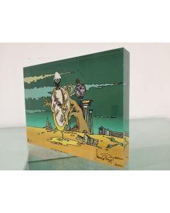 Pagot, Calimero e Dalì, grafica su plexiglas, 15x20x2,5 cm