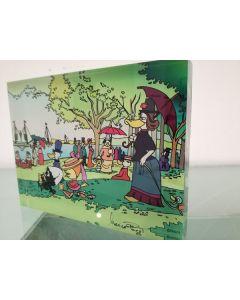 Pagot, Calimero e Seurat, grafica su plexiglas, 15x20x2,5 cm
