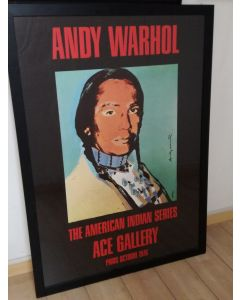 Andy Warhol, The American Indian Series, litografia offset, 125x87 cm, 1976