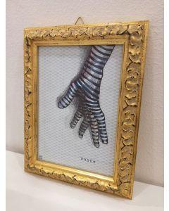 Aria Carelli, Suono, inchiostro su carta, 22x17 cm (con cornice)