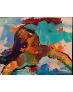 Claudio Malacarne, Little girl, olio su tavola, 24x30 cm