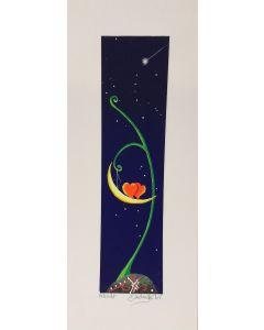 Meloniski da Villacidro, Innamorati, serigrafia e collage ritoccata a mano, 14,5x35,5 cm
