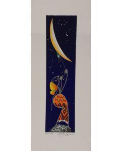Meloniski da Villacidro, Senza titolo, serigrafia e collage ritoccata a mano, 14,5x35,5 cm