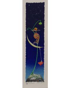 Meloniski da Villacidro, Innamorati, serigrafia e collage ritoccata a mano, 15x50 cm