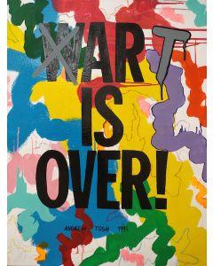 Andrew Tosh, Art is Over, acrilico su tela, 90x112 cm