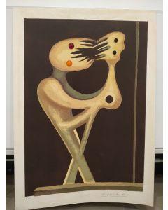 Andrea Raccagni, Autoritratto, serigrafia, 70x50 cm