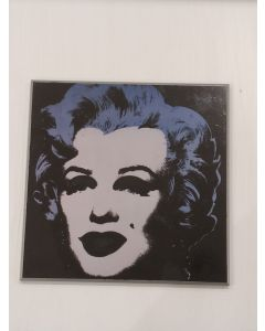 Marilyn Monroe, stampa su pannello, 26x26 cm (nero)