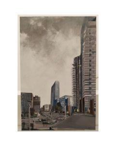 Alessandro Russo, Viale della Liberazione, olio su tela, 90x60 cm