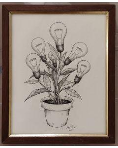 Loris Dogana, Fleur de lumiere, inchiostro su carta, 25x35 cm