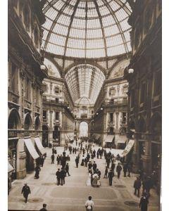 Galleria Vittorio Emanuele, stampa su legno, 30x39,5 cm